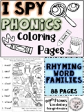 I Spy Phonics Coloring Pages: RHYMING WORD FAMILIES