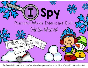 I Spy - Positional Words - Winter Theme