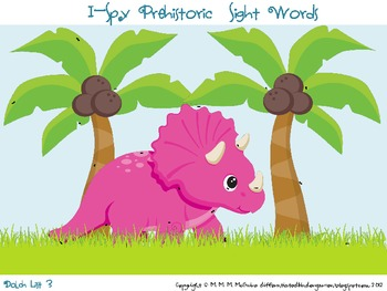 I-Spy Prehistoric Dinosaur Sight Words-Common Core Differentiated Fun