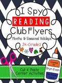 READING Club Flyers: Months & Seasonal Holidays
