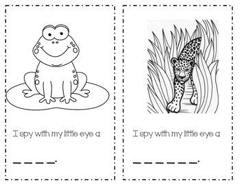 I Spy Rainforest Emergent Reader