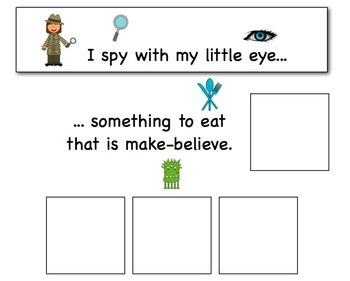 I Spy - Real & Make Believe {an adapted book for children with autism}