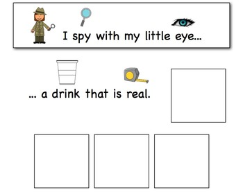 I Spy: Real and Make Believe Adapted Book for Preschool and Kindergarten