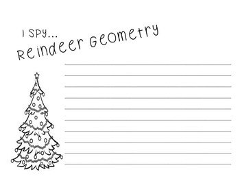 I Spy Reindeer Geometry