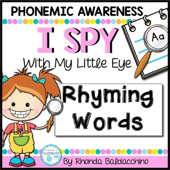 I Spy With My Little Eye ~ Rhyming Words {Common Core Aligned}