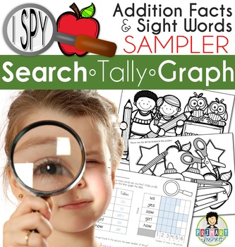 I Spy SAMPLER ~Addition Facts & Sight Words~