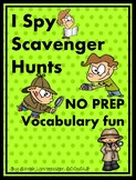 I Spy Scavenger Hunts - NO PREP Vocabulary Fun for Speech & Language