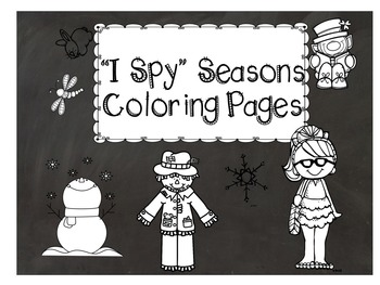 I Spy Seasons Coloring page