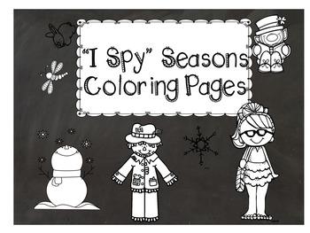 I Spy Seasons Coloring page