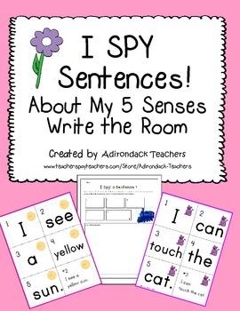 I Spy Sentences About My 5 Senses!