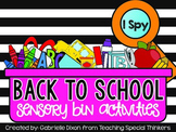 I Spy: Sensory Bin Activities {Back to School}