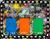 I Spy Sensory Bin Color Sorting Mats