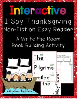 I Spy Sentences! Thanksgiving Write the Room Book Building