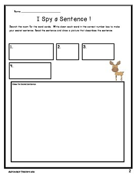 I Spy Sentences about Arctic Animals Write the Room Book Building Activity