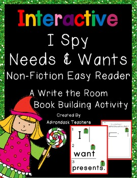 I Spy Sentences about Needs and Wants Write the Room Book Building Activity