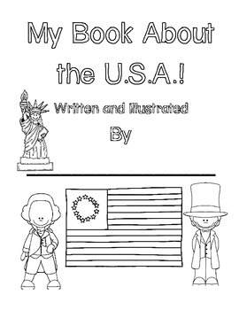 I Spy Sentences about the U.S.A!  Write the Room Book Building Activity