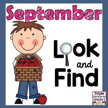 """I Spy"" September Edition - Apple Words, ""A"" Sight Words,"