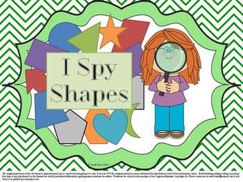 I Spy Shapes - PreK, Kinder, First