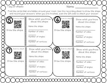 I Spy Shapes with QR codes