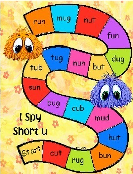 I Spy Short Vowel Gameboards - CVC