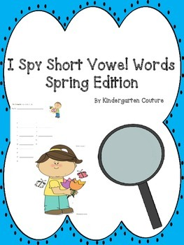 I See Tiny Short Vowel Words - Spring Edition