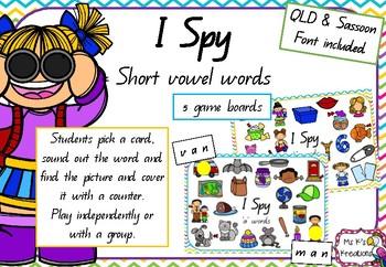 I Spy - Short Vowels