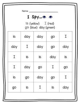 I Spy... Sight Word Practice Pack