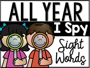 I Spy Sight Words - All Year