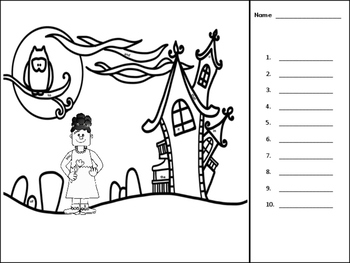 I See Tiny Sight Words Coloring Edition -Halloween