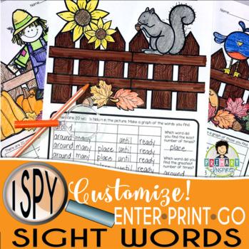 I Spy Sight Words ~ Fall Edition