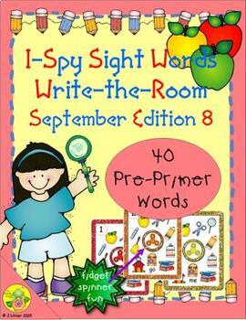 I-Spy Sight Words Fidget Spinner Fun - PrePrimer (September Edition)