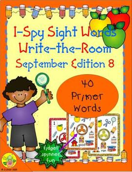 I-Spy Sight Words Fidget Spinner Fun - Primer (September Edition)
