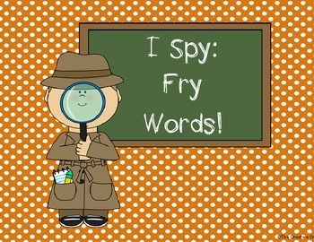 I Spy Sight Words (First 25 Fry Words)