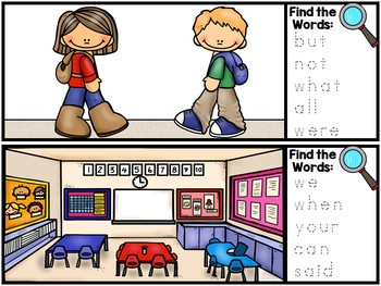I Spy Sight Words - Fry Sight Word Literacy Center - 200 Fry Sight Words
