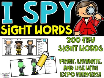 I Spy Sight Words - Fry Sight Word Literacy Center -Halloween Version