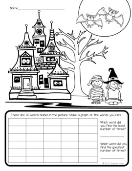I Spy Sight Words ~Halloween~ CUSTOMIZABLE!!