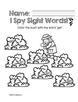 I Spy Sight Words: Primer List