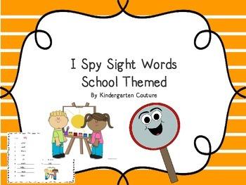 I See Tiny Sight Words -School Theme