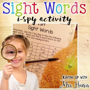 Sight Words Sensory Bag - I Spy