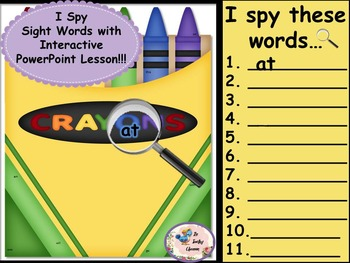 I Spy Sight Words Interactive Bundle
