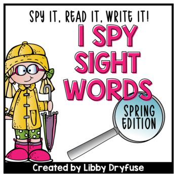 I Spy Sight Words {Spring}
