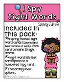I Spy Sight Words (Spring Edition)