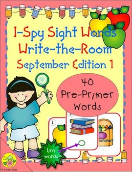 I-Spy Tiny Sight Words - PrePrimer Words (Sept. Edition) Set 1
