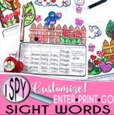 I Spy Sight Words ~Valentine~ CUSTOMIZABLE!