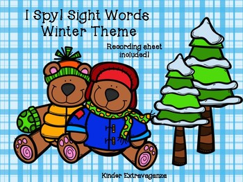I Spy!  Sight Words Winter Theme