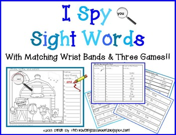 Word of the Day - I Spy Interactive PowerPoint & Matching Coloring Sheets