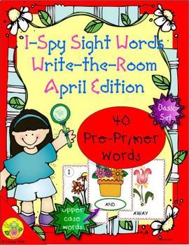 I-Spy Sight Words Word Work - PrePrimer Words (April Edition) Basic