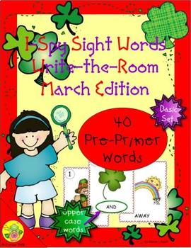 I-Spy Sight Words Word Work - PrePrimer Words (March Edition) Basic