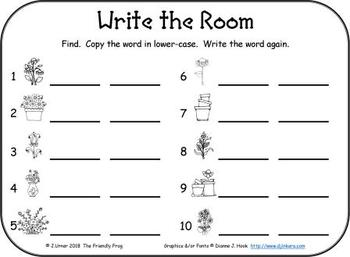 I-Spy Sight Words Word Work - Primer Words (April Edition) Basic