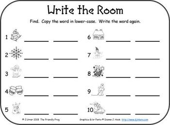 I-Spy Sight Words Word Work - Primer Words (January Edition) Basic